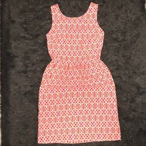 Jude connally  small orange and pink casual dress